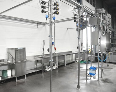 CIP installation for optimal cleaning of your production processes