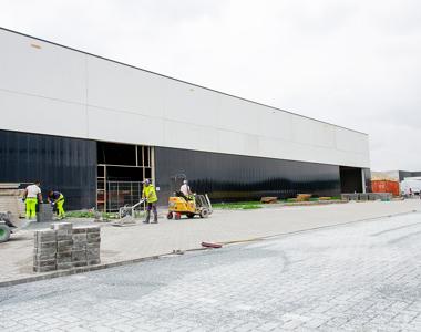 Inner walls, warehouse racks and parking