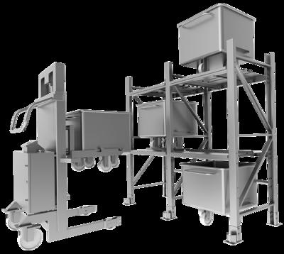 Standard trolley storage system