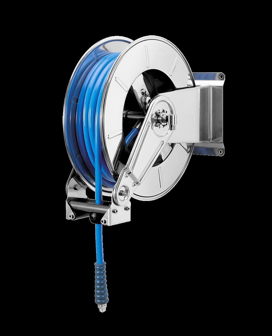 Enrouleur de tuyaux automatique <35 mètres 3/8