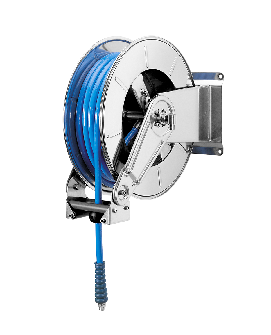 Automatic hose reel <br><35 metres 3/8