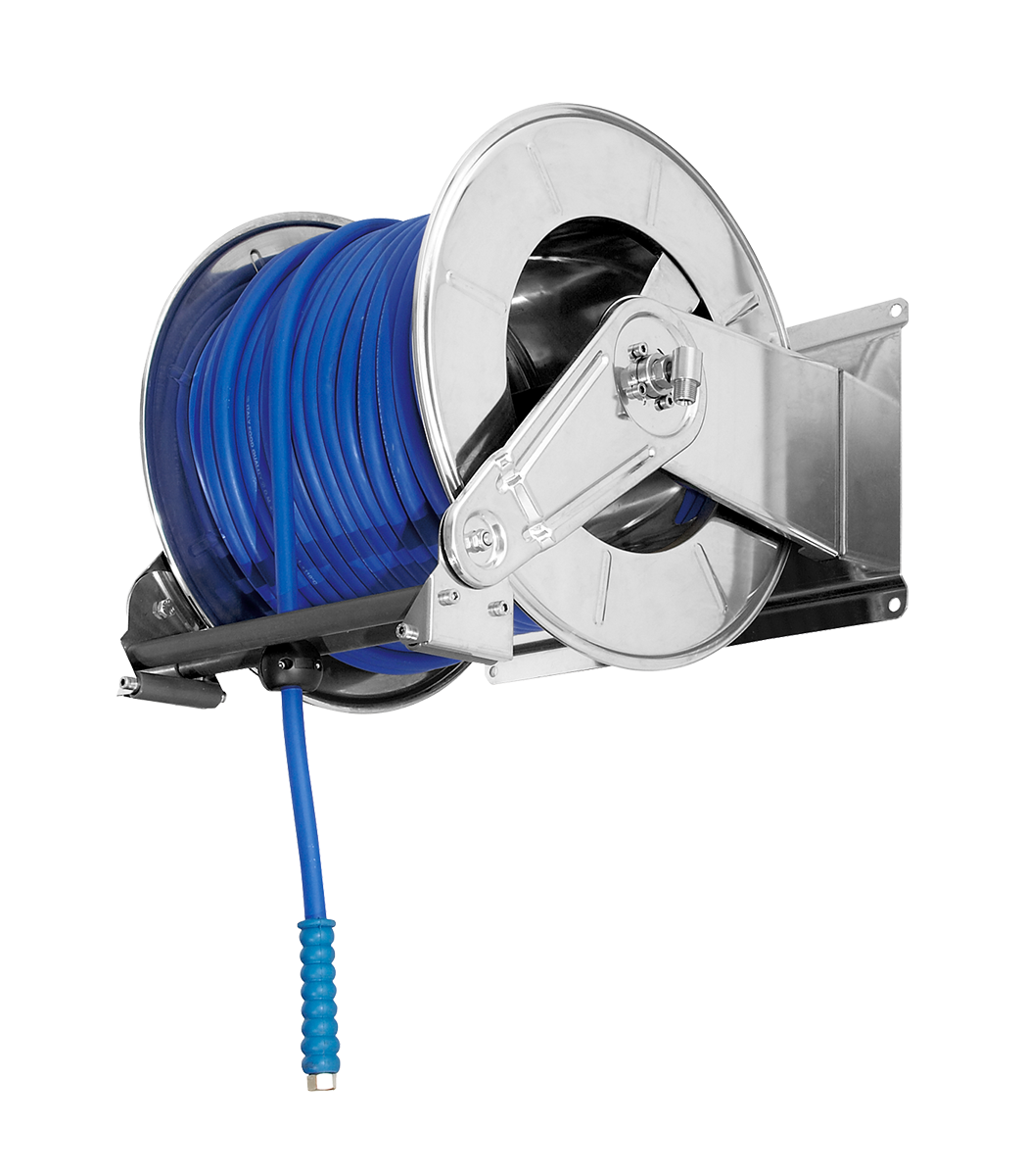 Automatic hose reel <br><60 metres 3/8