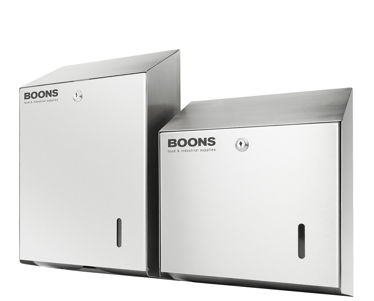 Stainless steel<br>paper dispensers<br>PD‑VL en PD‑VM