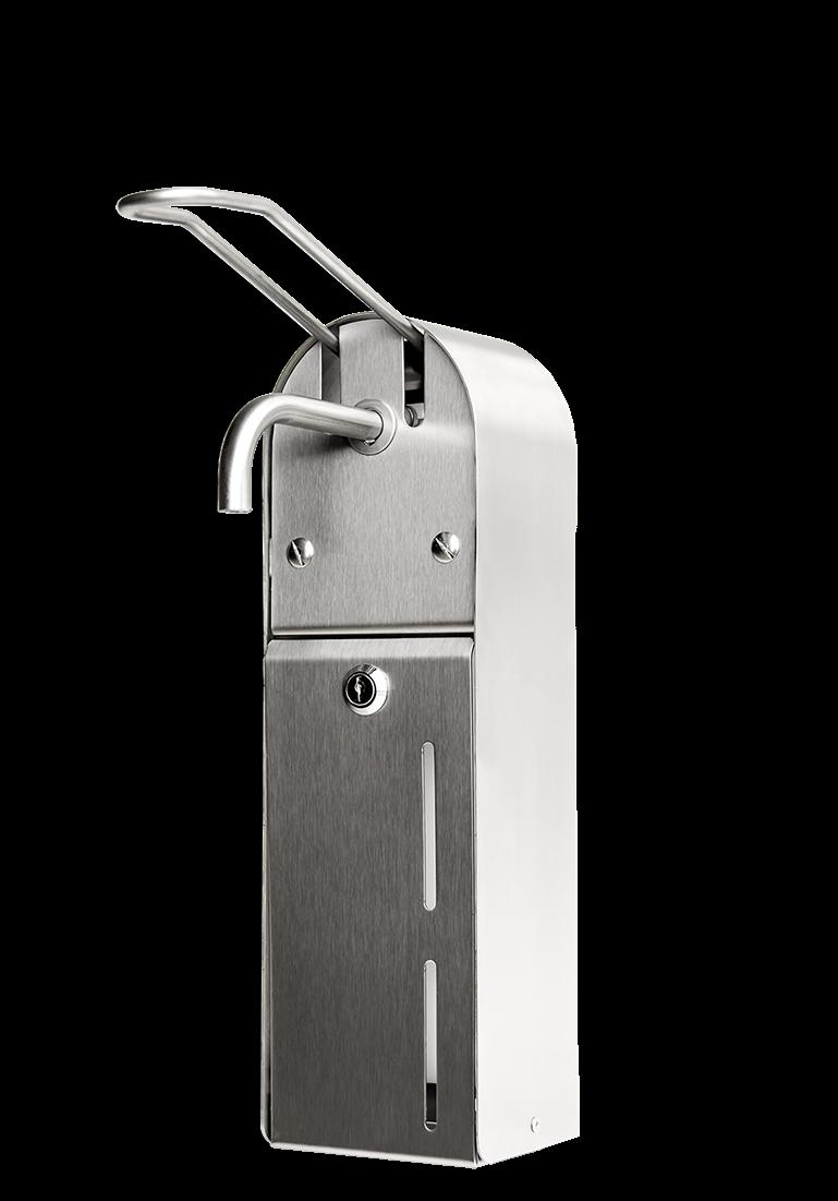 Stainless steel<br>soap dispenser<br>USP