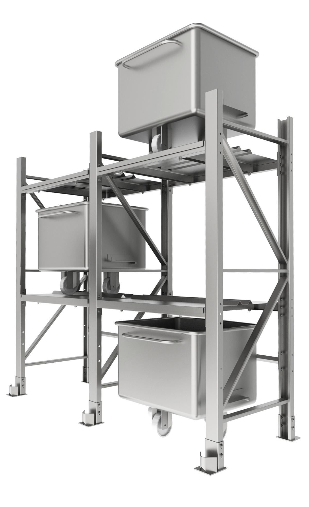 Système de stockage pour chariots standard